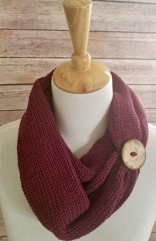 2bf2670b0e2 Womens Burgundy Handmade Infinity Scarf