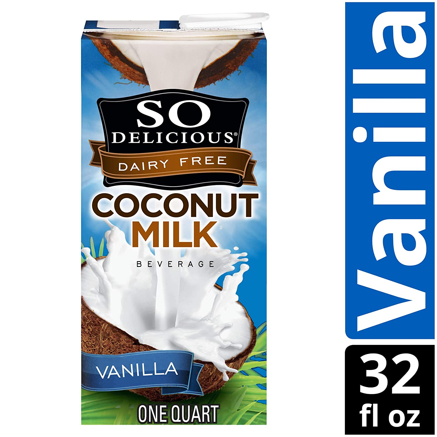 Dairy Soy and Almond Alternative Vanilla Milk Drink, Shelf-Stable Aseptic Packaging