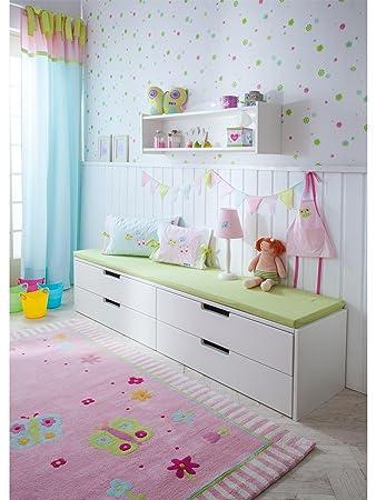 Kinderteppich schmetterling rosa  Annette Frank Teppiche Kinderzimmer Kinderteppich Schmetterling ...