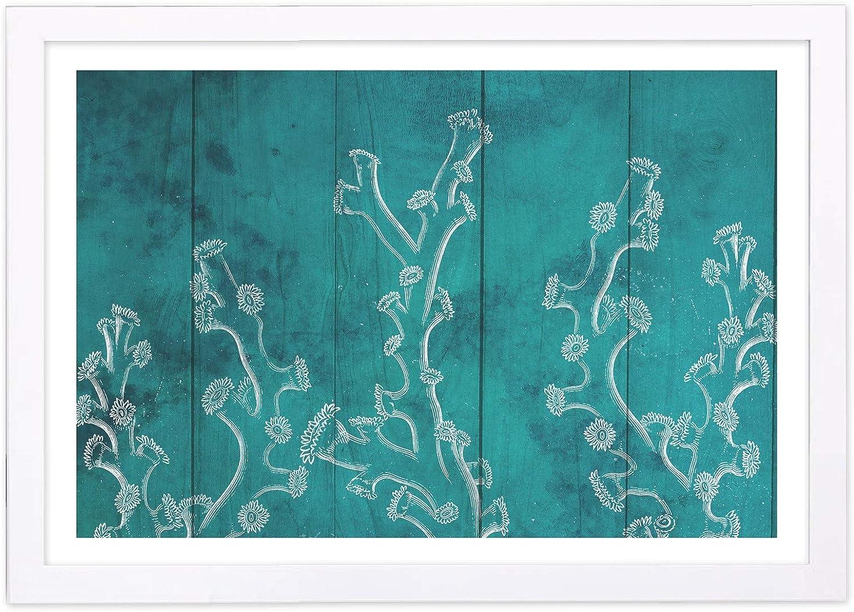 Wynwood Studio Nautical and Coastal Framed Wall Art Prints 'Coral Reef Turquoise' Marine Life Home Décor, 19