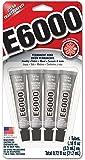 Eclectic E6000Multipurpose adhésif 4/Pkg-.18oz clair
