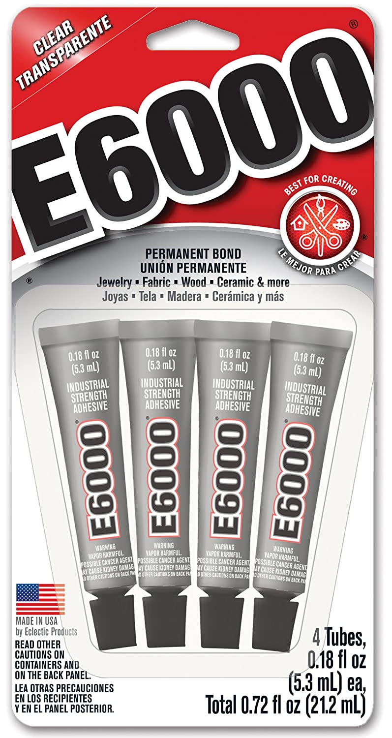 E6000 - the best glue for sea glass is available on AMAZON