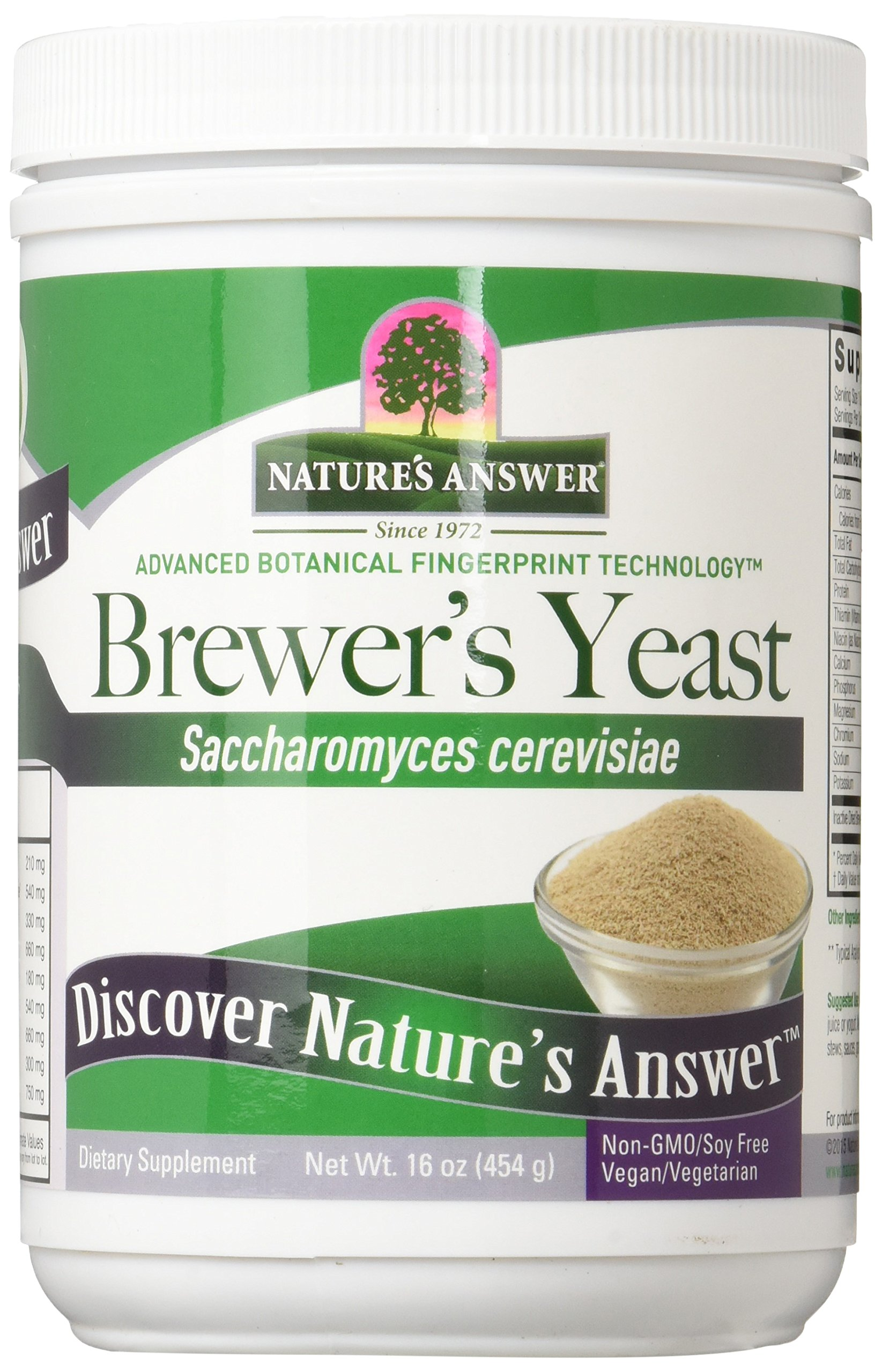 Nature's Answer Brewers Yeast, 16-Ounces