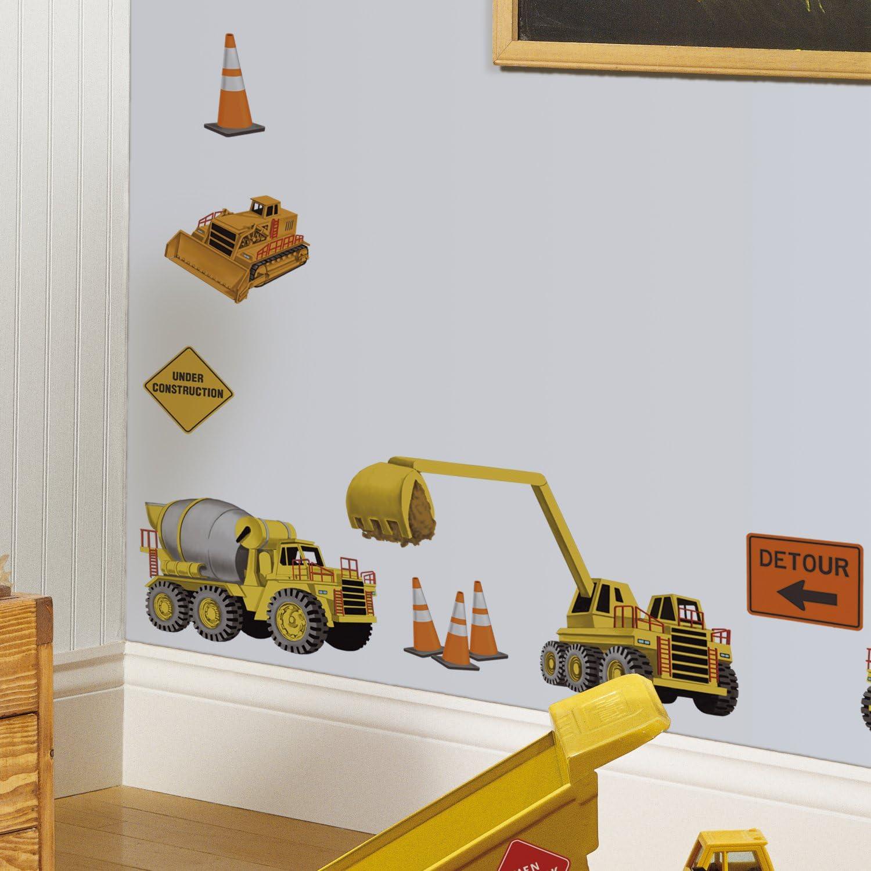 RoomMates Stickers muraux repositionnables Enfant Chantier de construction