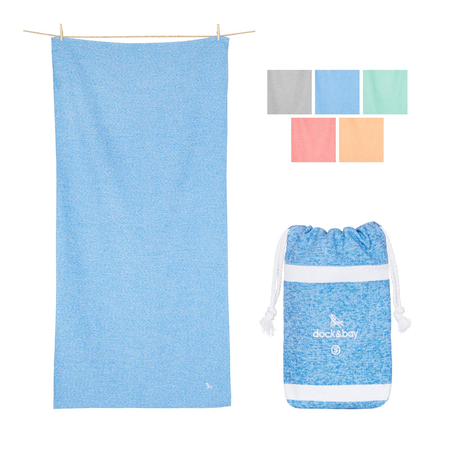 Gym Towels and Workout Towel - Lagoon Blue, 40 x 20 - Gym, Sports & Workout - Compact Gym Towel, Sports Towel