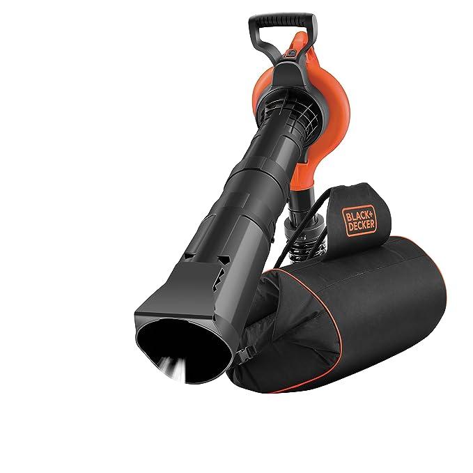 Black+Decker GW3031BP (Elektro Laubsauger und Laubbläser mit Häcksler, 72l Fangsack-Rucksack, Laubrechen und Tragegurt, Hohe
