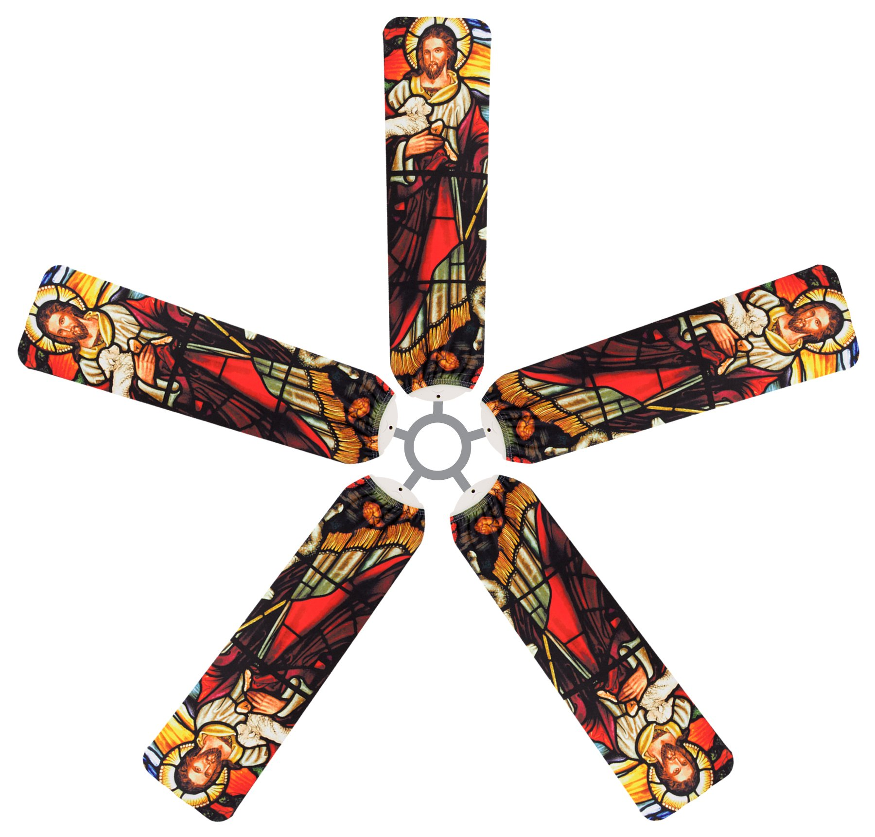 Fan Blade Designs The Good Shepherd Ceiling Fan Blade Covers