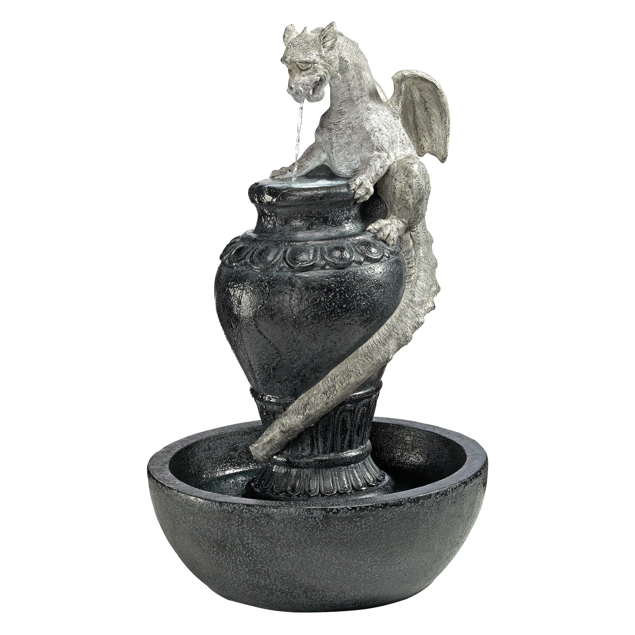 Design Toscano The Viper Dragon Sculptural Fountain