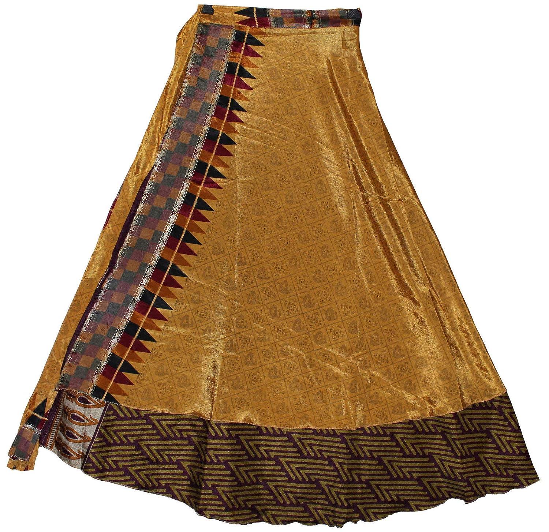 creativegifts largo Longitud Indio Reversible Vintage Sari de seda ...