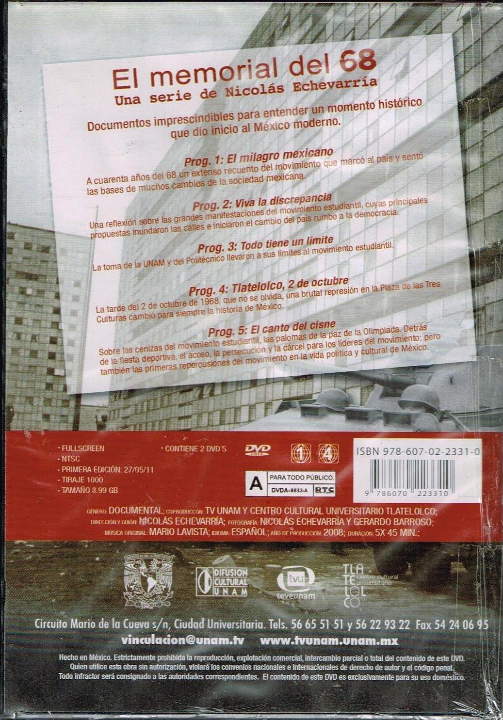 Amazoncom El Memorial Del 68 Una Serie De Nicolas Echevarria