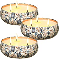 Scented Candles Gifts Set for Women, Home Scented Aromatherapy Candles, 3 x 13.5 Oz, 75 Hours Burn Time, 100% Natural…