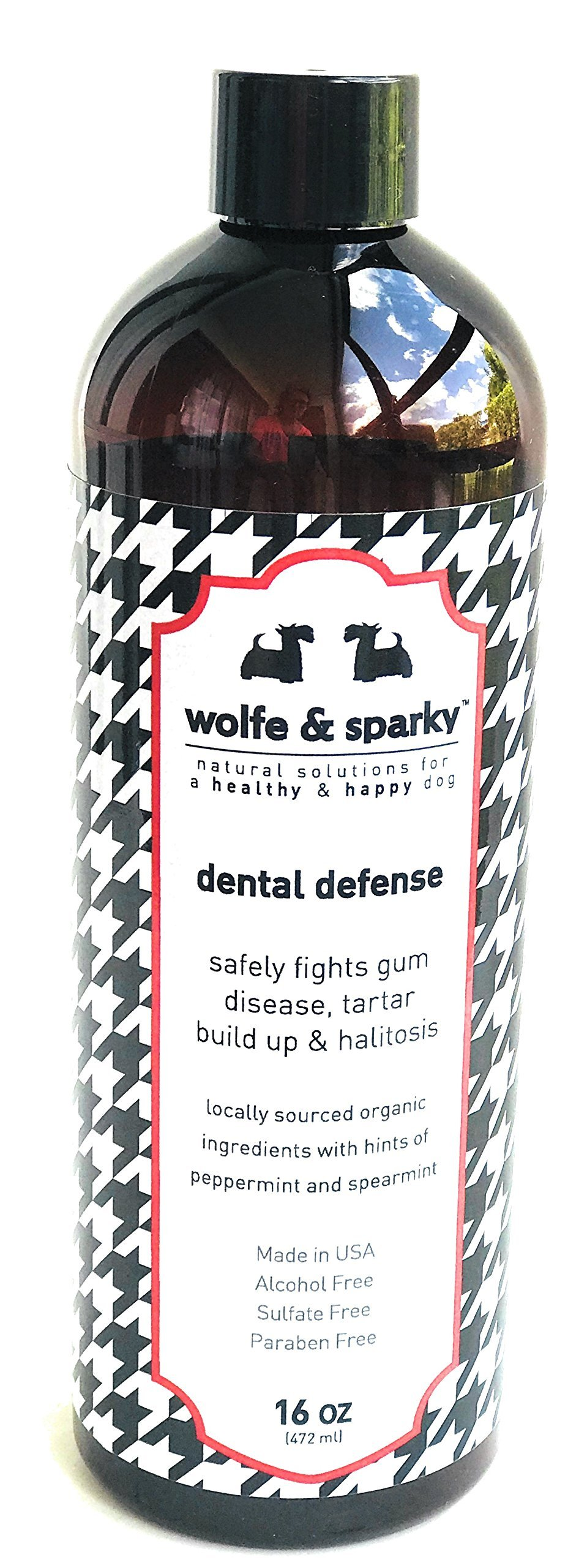 Wolfe & Sparky Organic Dental Defense A Natural Solution to Your Dog's Dental Health (16oz)