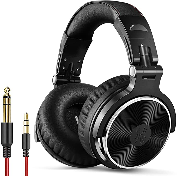 Amazon.com: OneOdio Wired Over Ear Headphones - Studio Monitor & Mixing DJ Stereo Headsets with 50mm Neodymium Drivers and 1/4 to 3.5mm Audio Jack for AMP Computer Recording Phone Piano Guitar Laptop - Black: Electronics