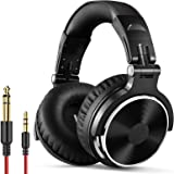 OneOdio Wired Over Ear Headphones Studio Monitor & Mixing DJ Stereo Headsets with 50mm Neodymium Drivers and 1/4 to 3.5mm Aud
