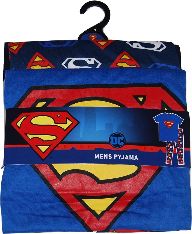 Mens Superman Pyjamas DC Comics