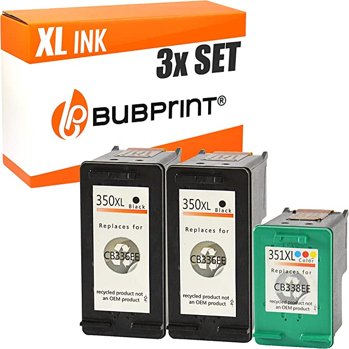 Bubprint 3 Druckerpatronen Kompatibel Für Hp 350 351 Xl 350xl 351xl Für Deskjet D4260 D4360 Officejet J5730 J5780 J5785 J6400 Photosmart C4200 C4280 Bürobedarf Schreibwaren