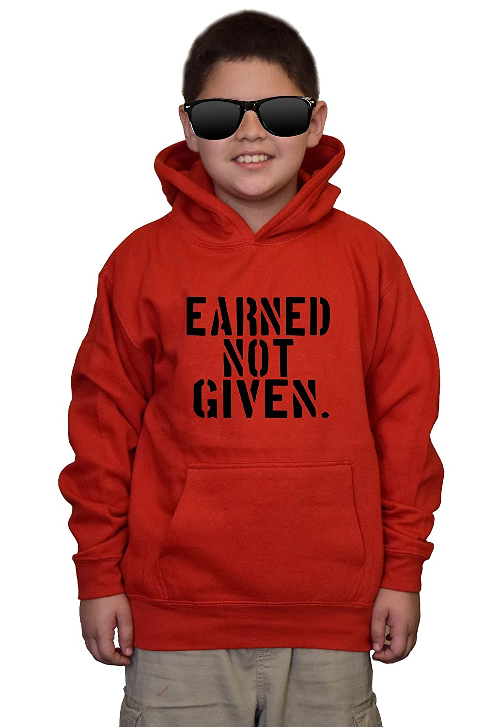 Youth Earned Not Given V183 Red kids Sweatshirt Hoodie