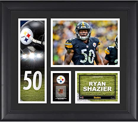 a52d2286f Ryan Shazier Pittsburgh Steelers Framed 15 quot  x 17 quot  Player Collage  with a Piece of