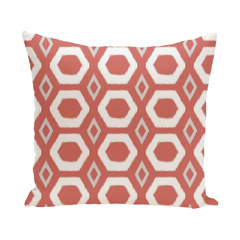 E by design O5PGN220OR9-16 Printed Outdoor Pillow