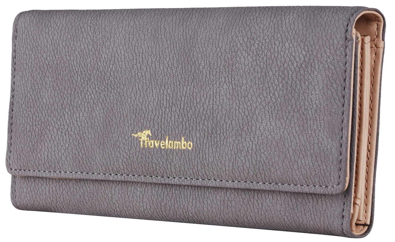9595ba6040130 Travelambo Womens Wallet Faux Leather RFID Blocking Purse Credit Card Clutch  product image