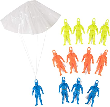 Parachute Man Party Favours Pack Of 12 One Size