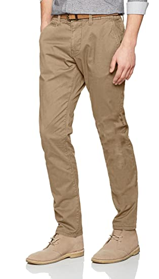 Mens Travis Casual Chino W/Belt Trousers Tom Tailor nE3DU