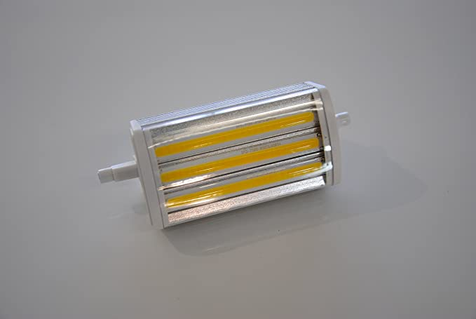 Bombilla LED R7s J118 LED barras con cristal protector 1400 lm 118 mm 3000 K regulable
