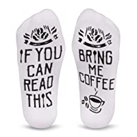 Cavertin Women's Novelty Coffee Lover Socks with Gift Box
