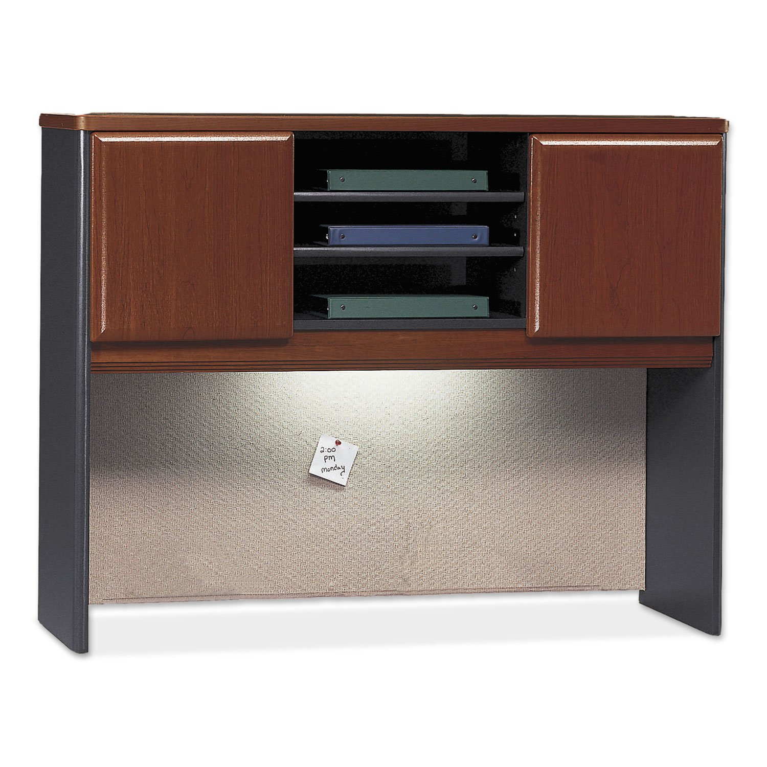 Hutch 3 Open Shelves 48W Hansen Cherry Doors-Galaxy Base