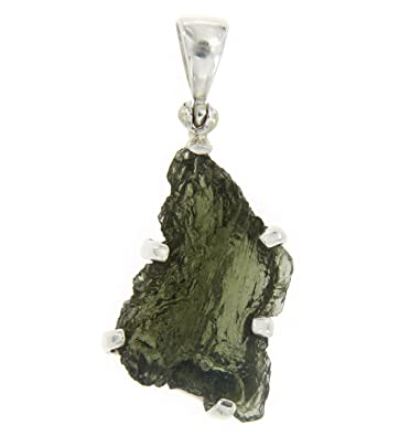 Amazon starborn sterling silver natural moldavite pendant starborn sterling silver natural moldavite pendant aloadofball Images