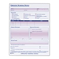 Adams Employee Warning Notice Form, 8.5 x 11 Inches, 2 Pads of 50 Forms, 100 Total forms, 1-Part Each (9060)