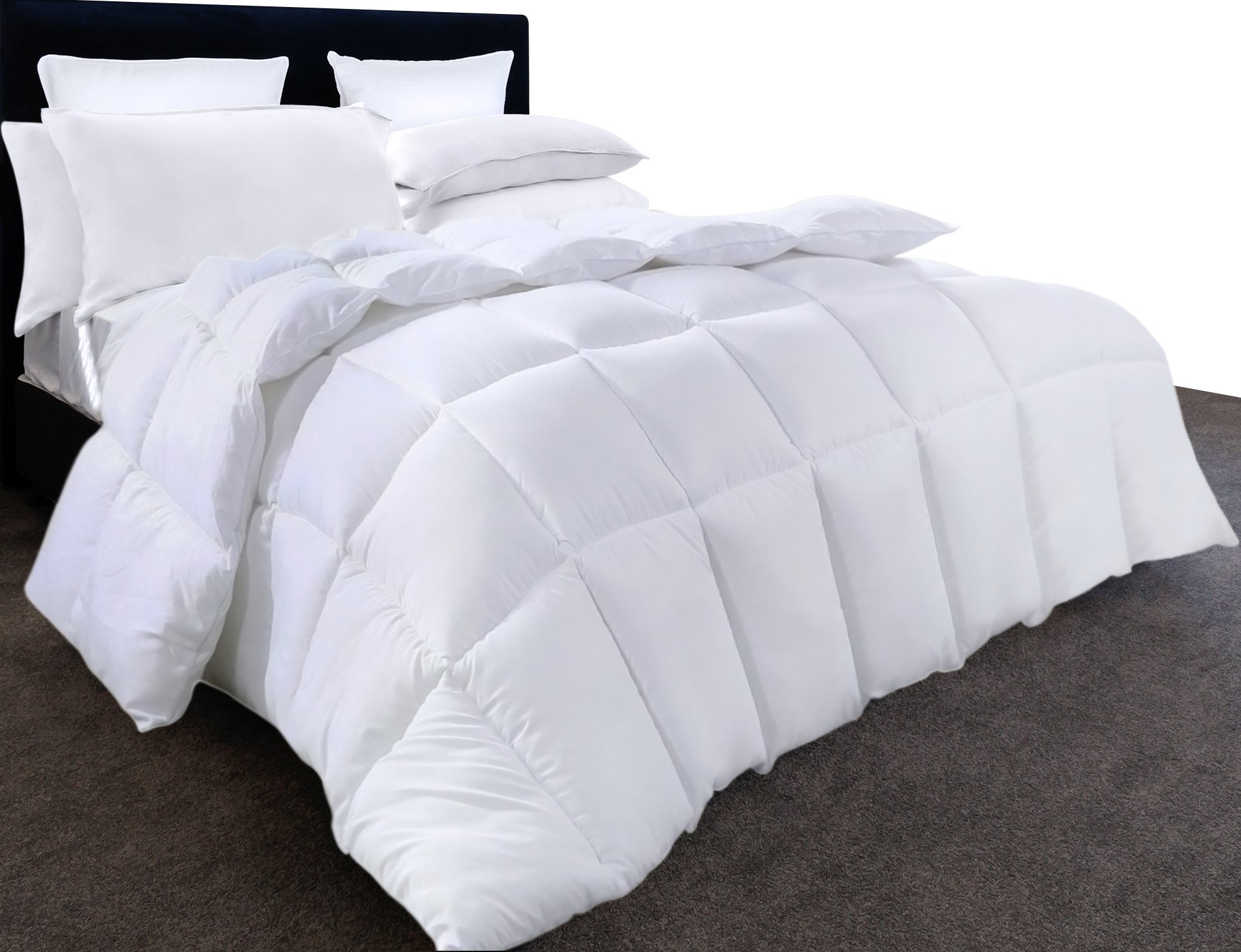 Utopia Bedding Ultra Plush Hypoallergenic, Siliconized fiberfill, Box Stitched Alternative Comforter, Duvet Insert, Protects Against Dust Mites and Allergens (King 90 by 102 inch) by Utopia Bedding