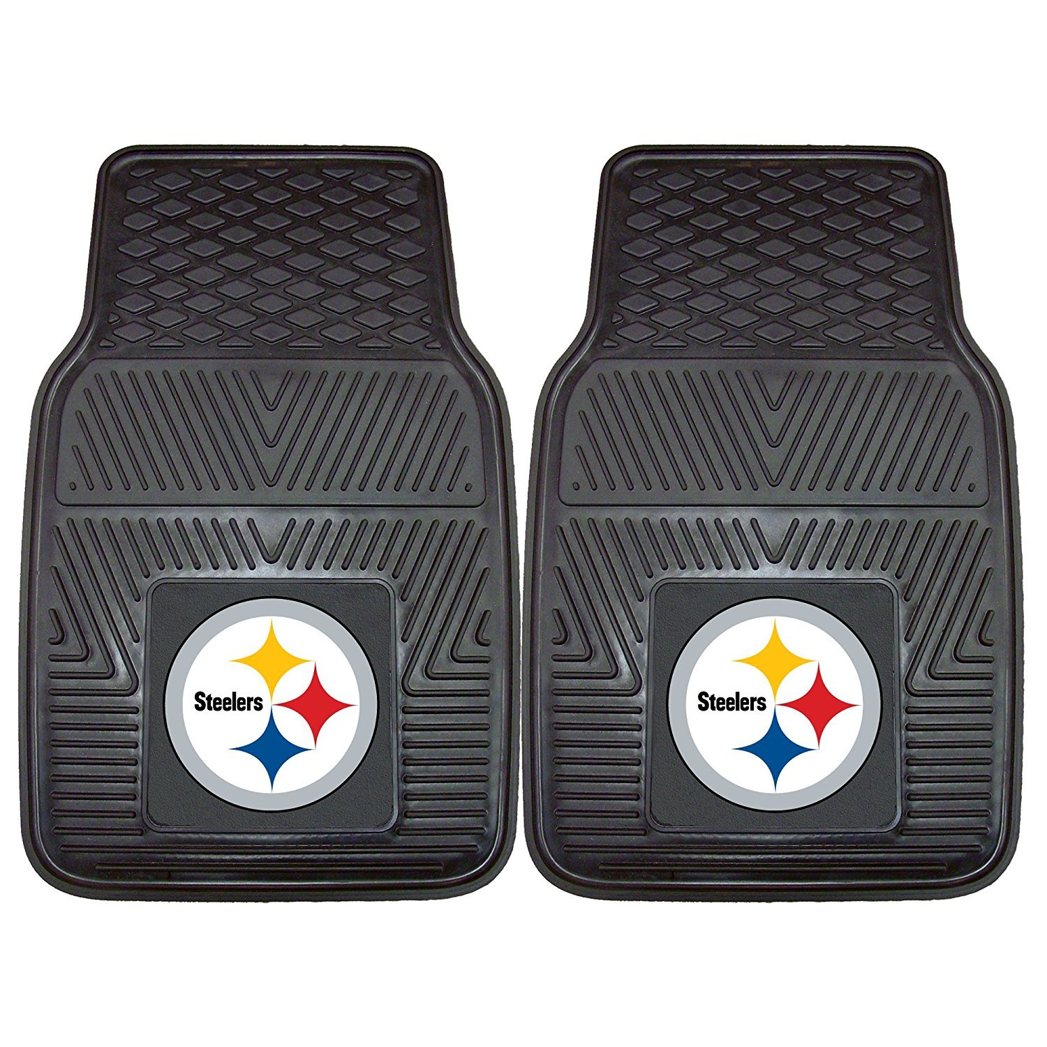 Pittsburgh Steelers Premium All Weather 2pc Rubber Car Floor Mats