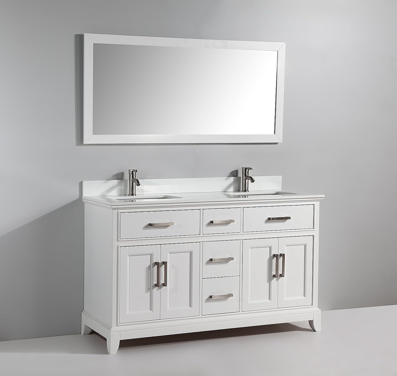 Vanity Art 60 Inch Bathroom Vanity Set with super White Phoenix ...