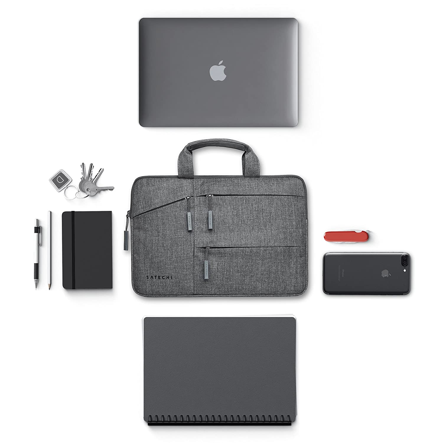 Satechi Water-Resistant Laptop Bag Carrying Case w/Pockets - Compatible with MacBook Pro 15, HP Spectre x360 15, Dell XPS 15 and More (15 Inch) HP Spectre x360 15 ST-LTB15
