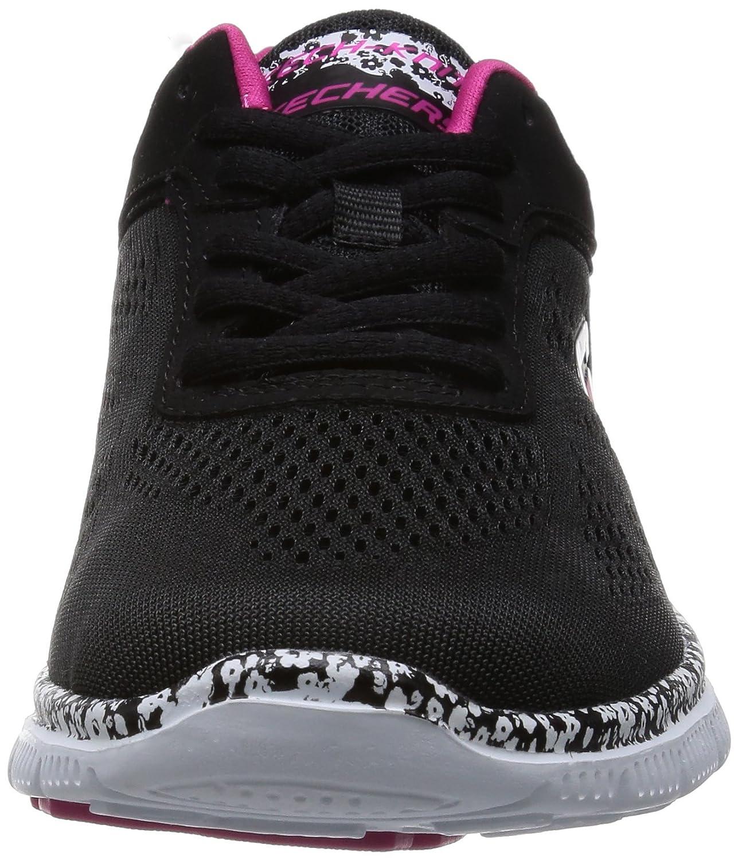 Basses Noir Bkw femme Style Flex Appeal Island Skechers Sneakers qwXpPBxp