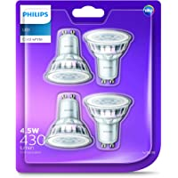 Philips LED GU10 Spot (4.5W Colour Rendering Index 80, 60 degree beam angle) - Neutral White - 8718696681756