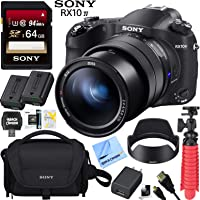 Sony Cyber-Shot RX10M IV Mirrorless 20.1 MP 4K Video Camera DSC-RX10M4 and ZEISS 24-600mm F.2.4-F4 Ultra Telephoto Zoom Lens Bundle with 64GB SDXC Card Case Spare Battery and More