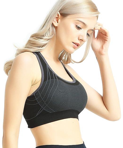 Amazon.com: Capricia Odare - Sujetador deportivo para mujer ...