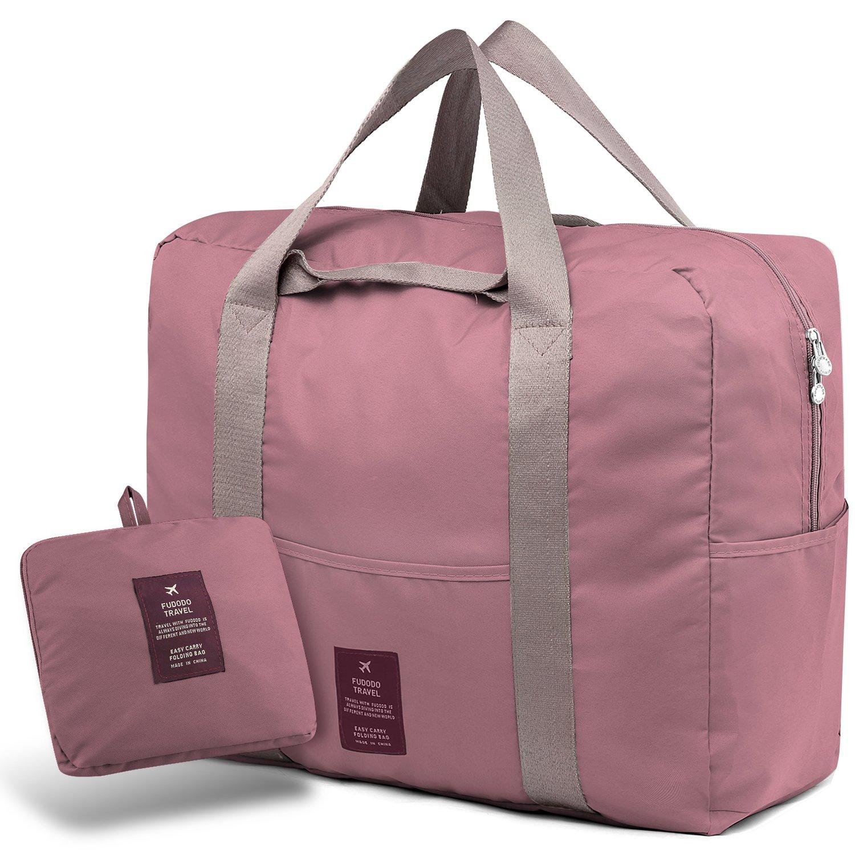 SPAHER Bolsa de equipaje Bolsas de viaje plegable Duffle Bag ligero impermeable organizador de hombro de almacenamiento de transporte de bolsas para ir de compras Gimnasio Deportes Camping 40L Rojo XB-40L-RED