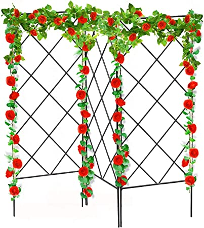 baikaishui Trellis for Climbing Plants Outdoor,3 Pcs Trellis for Climbing Plants ,The Steel Wire is Made of Strong and Durable, Anti-Rust Garden Trellis for Outdoor and Indoor Decoration