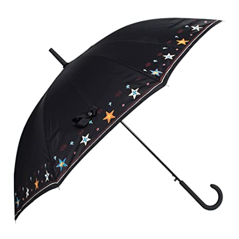 Parfois - Paraguas Paraguas Grande Impreso Negro - Mujeres - Tallas L - Negro