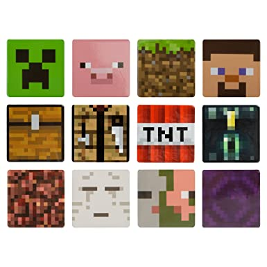 ab52bd95b9d0 Amazon.com  JINX Minecraft 12 Button Set (Creeper