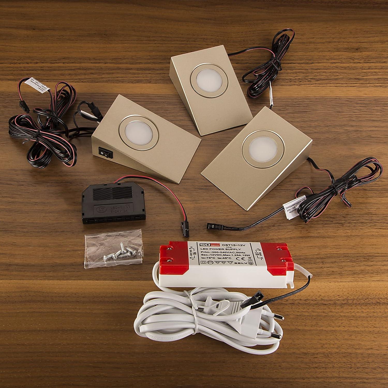 Spots So Set 3 Carrés Led De Tech® vOm0nwN8