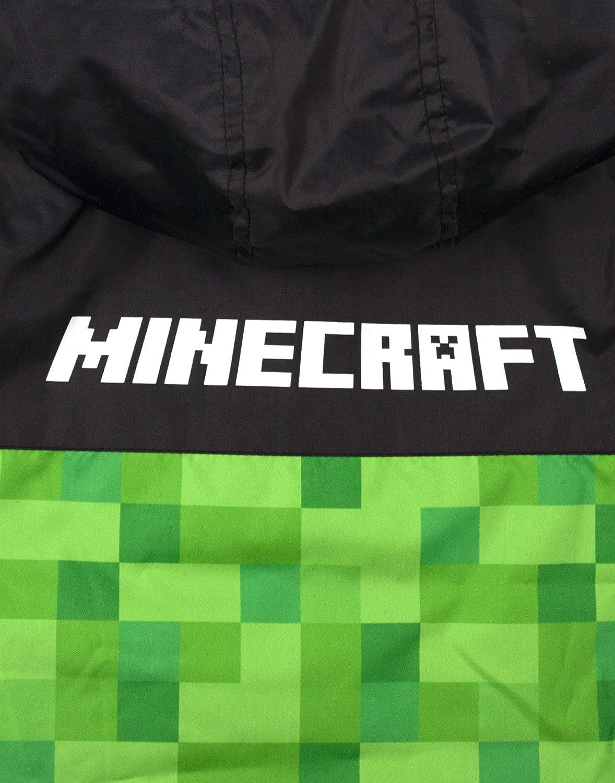 Vanilla Underground Minecraft Creeper Ragazzi Foderato in Pile Giacca Impermeabile con Cappuccio