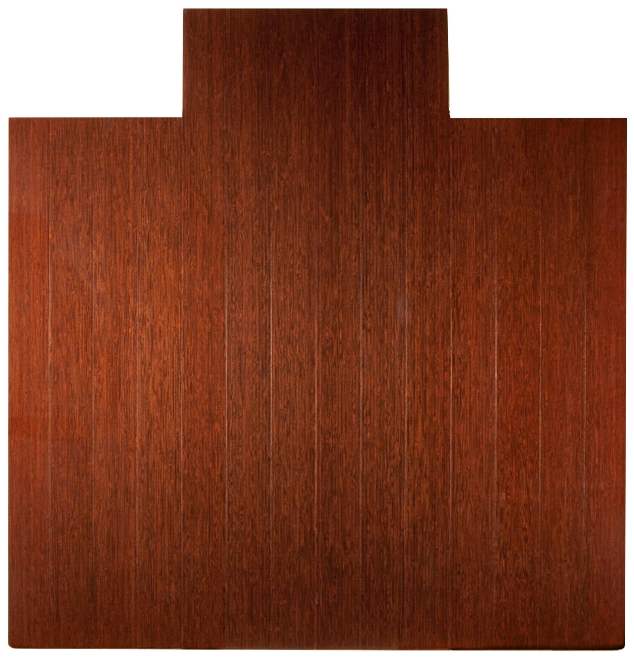 Anji Mountain AMB24025W Real Bamboo Wood Chair Mat, 55 x 57, Dark Cherry