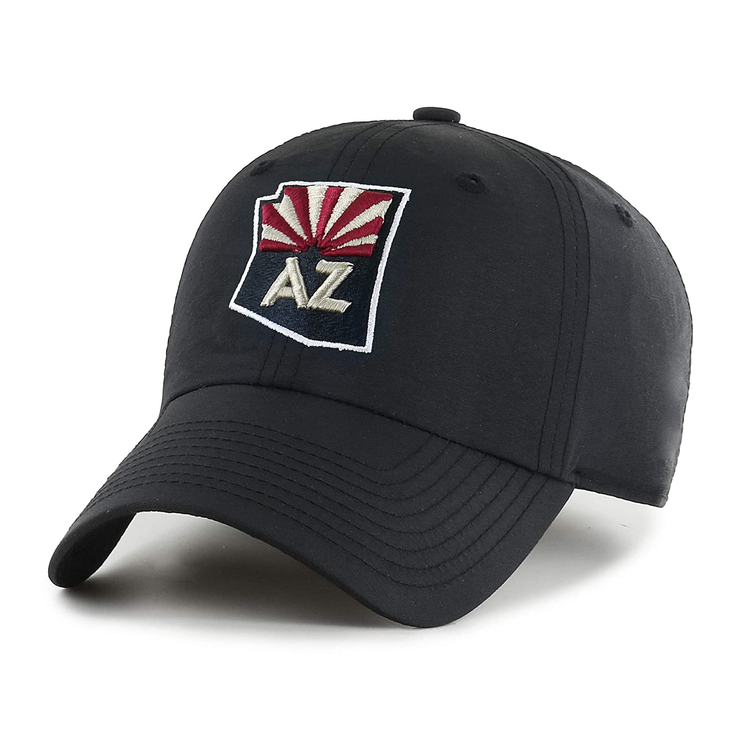 cheap for discount c85be a0326 Amazon.com   OTS NHL Arizona Coyotes Men s Wind Swept Challenger Adjustable  Hat, Black, One Size   Clothing