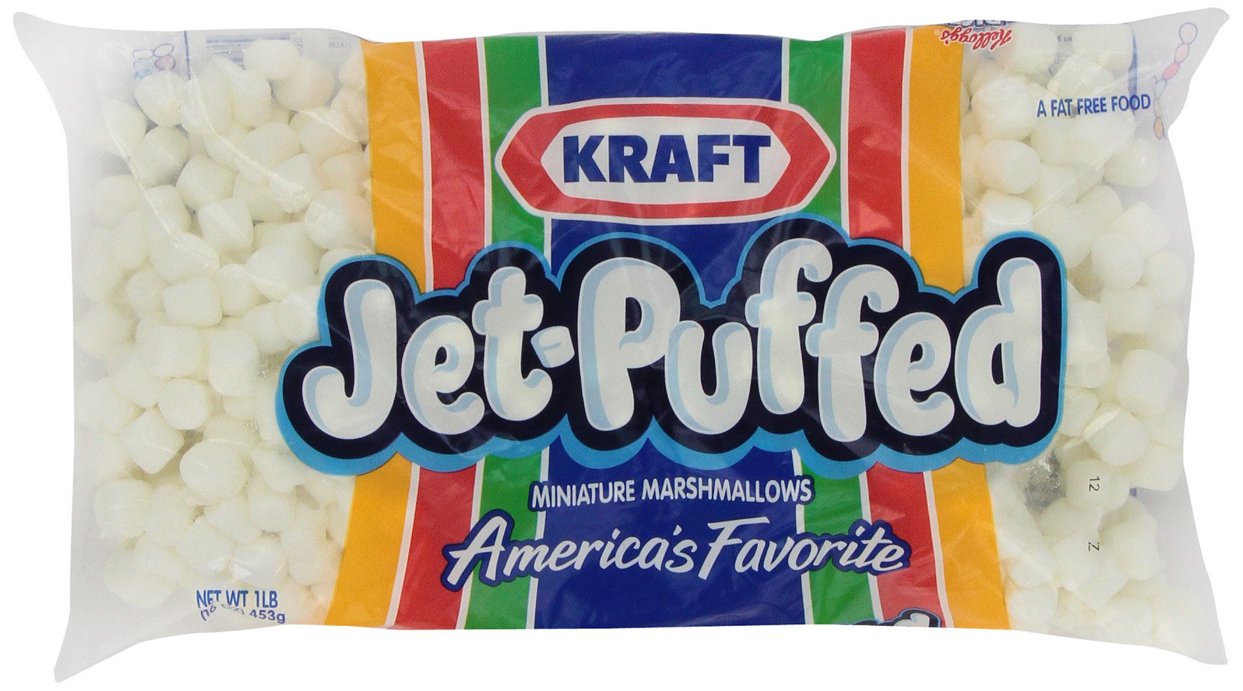 Jet Puffed Mini Marshmallow, 16-Ounce Bags (Pack of 6)