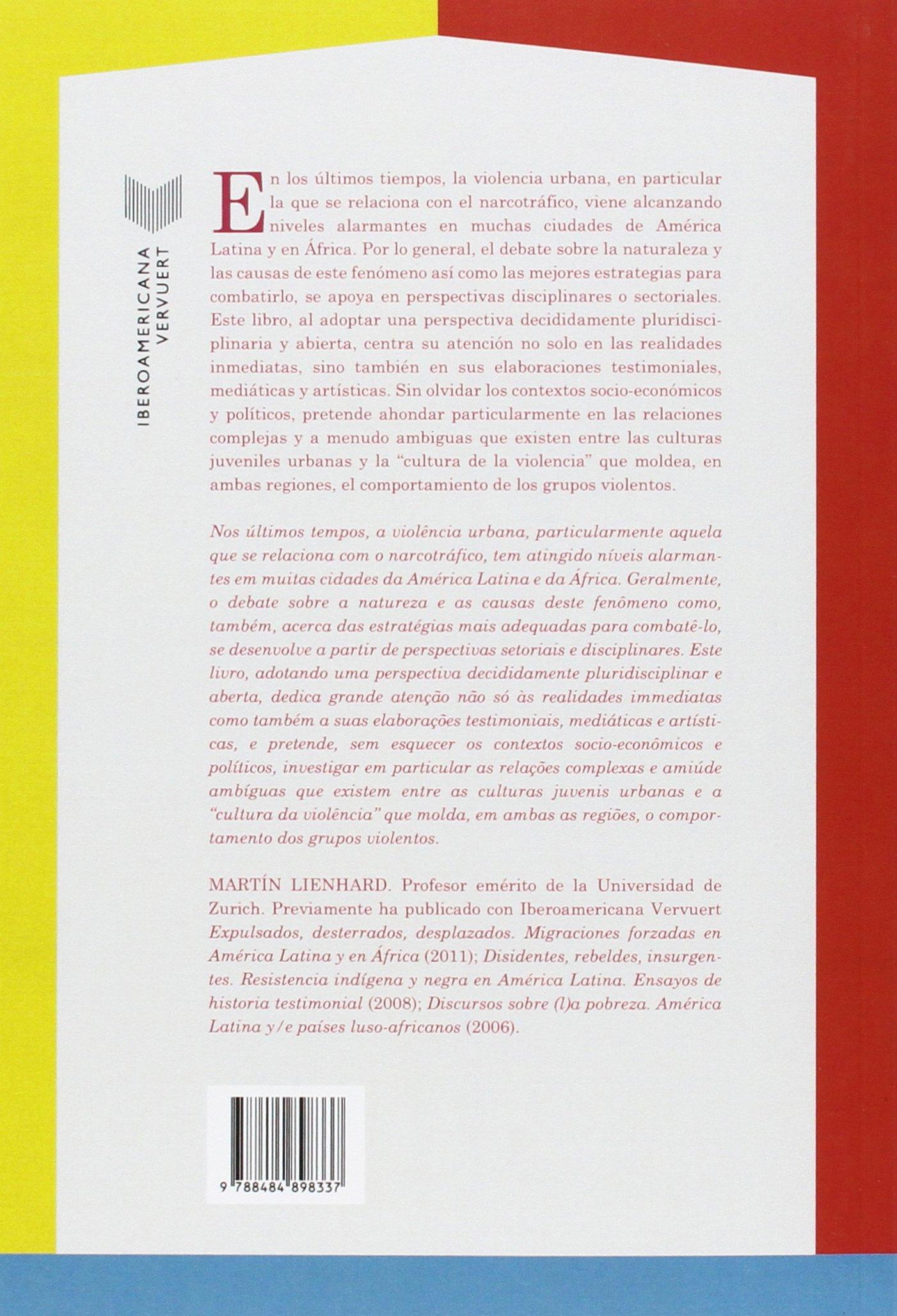 Violencia urbana, los jóvenes y la droga=Violencia urbana, os jovens e a droga : América Latina / África. (Spanish Edition): Martín (coord.