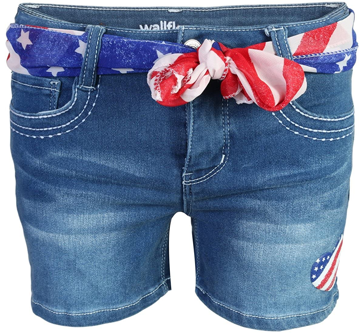 WallFlower Girls Soft Strech Denim Shorts WallFlower Jeans
